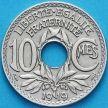 Монета Франция 10 сантимов 1919 год.