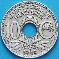 Франция 10 сантимов 1919 год.