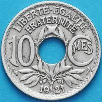 Франция 10 сантимов 1921 год.