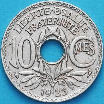 Франция 10 сантимов 1923 год.