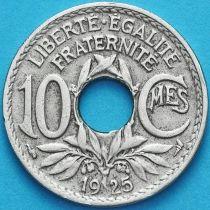 Франция 10 сантимов 1925 год.