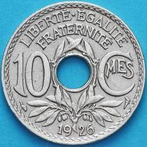 Франция 10 сантимов 1926 год.