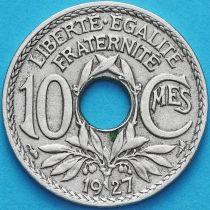 Франция 10 сантимов 1927 год.