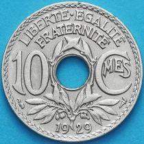 Франция 10 сантимов 1929 год.