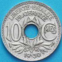 Франция 10 сантимов 1930 год.