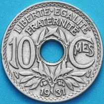 Франция 10 сантимов 1931 год.