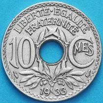 Франция 10 сантимов 1933 год.