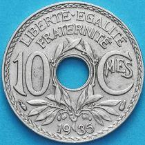 Франция 10 сантимов 1935 год.