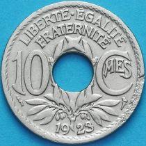 Франция 10 сантимов 1923 год. Пуасси.