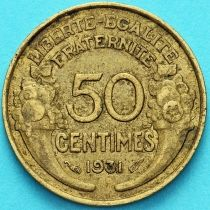 Франция 50 сантимов 1931 год.