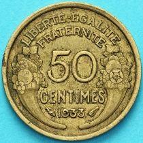 Франция 50 сантимов 1933 год.