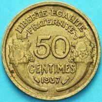 Франция 50 сантимов 1937 год.