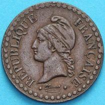 Франция 1 сантим 1849 год.
