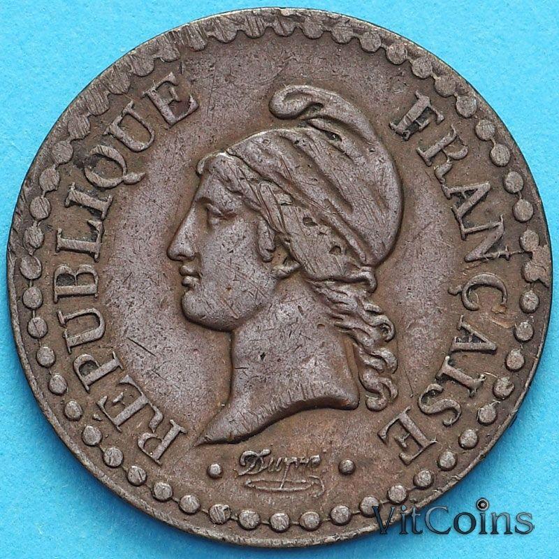 Монета Франция 1 сантим 1849 год.