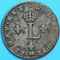 Франция 2 лирда 1739 год. Нант. Брак. Серебро