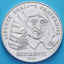 Франция 100 франков 1991 год. Рене Декарт. Серебро.