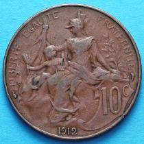 Франция 10 сантимов 1899 -1916 год. Монетный двор Париж.