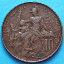Франция 10 сантимов 1917 год. Монетный двор Париж.