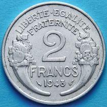 Франция 2 франка 1948 год.