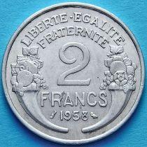Франция 2 франка 1958 год.