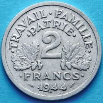 Франция 2 франка 1944 год.