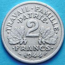 Франция 2 франка 1944 год. С.
