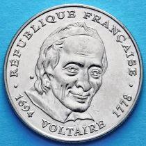 Франция 5 франков 1994 год. Вольтер