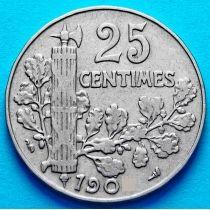 Франция 25 сантимов 1904 год.