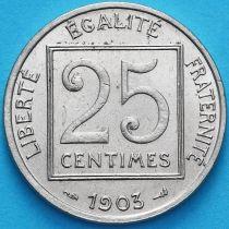 Франция 25 сантимов 1903 год. XF
