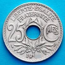 Франция 25 сантимов 1920 год.