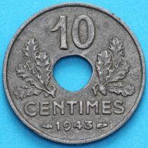 Франция 10 сантимов 1943 год. KM# 898