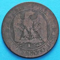 Франция 5 сантимов 1856 год. Монетный двор Париж.