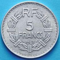 Франция 5 франков 1947 год. Монетный двор Бомон-ле-Роже.