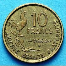 Франция 10 франков 1950-1959 год. Монетный двор Бомон-ле-Роже