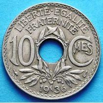 Франция 10 сантимов 1918-1938 год.
