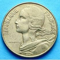Франция 10 сантимов 1962-2001 год.