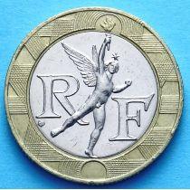 Франция 10 франков 1988-1992 год. Гений свободы.