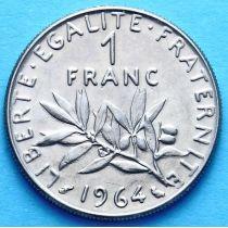 Франция 1 франк 1960-1975 год.