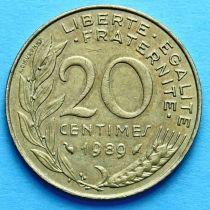 Франция 20 сантимов 1963-1993 год.