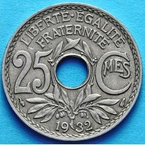 Франция 25 сантимов 1918-1937 год.