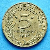 Франция 5 сантимов 1966-2001 год.