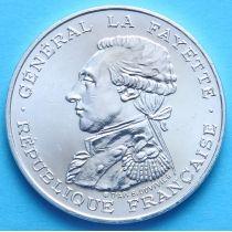 Франция 100 франков 1987 г. Генерал Жильбер Лафайет. Серебро