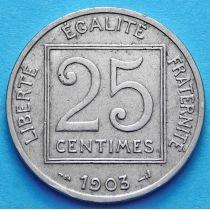 Франция 25 сантимов 1903 год.
