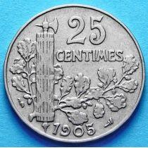 Франция 25 сантимов 1904-1905 год.