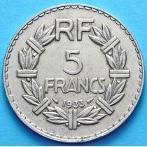 Франция 5 франков 1933 год.