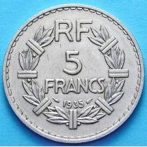 Франция 5 франков 1935 год.