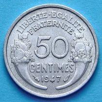 Франция 50 сантимов 1941-1947 год. Монетный двор Париж.