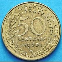Франция 50 сантимов 1962-1964 год.