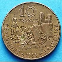 Франция 10 франков 1985 год. Виктор Гюго.