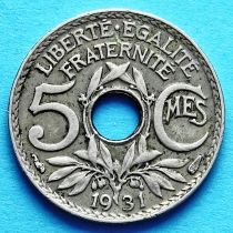 Франция 5 сантимов 1920-1938 год.